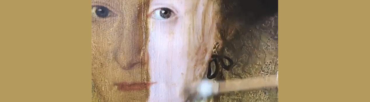 Portrait aus dem 17. Jahrhundert und 200 Jahre alter Lack